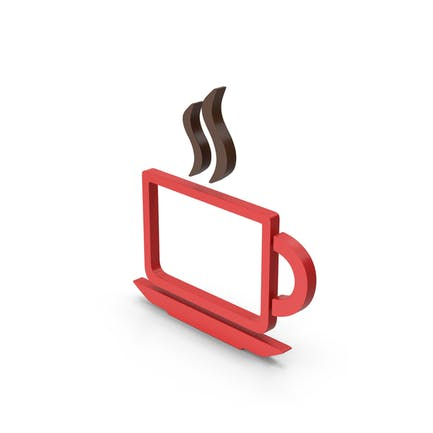 Symbol Coffee Cup Red