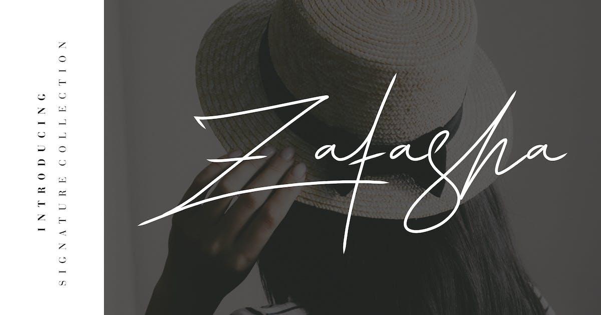 Download Zatasha - Elegant Handwritten Signature by naulicrea