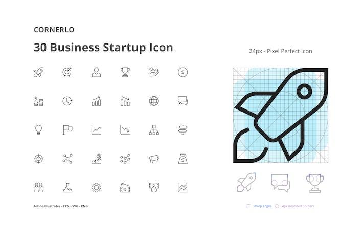 Thumbnail for CORNERLO - Business Startup Icon Set