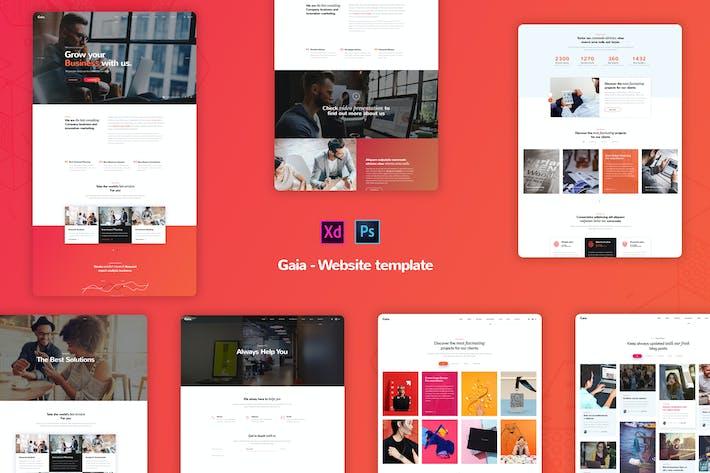Thumbnail for Gaia - Creative Business Website Templates