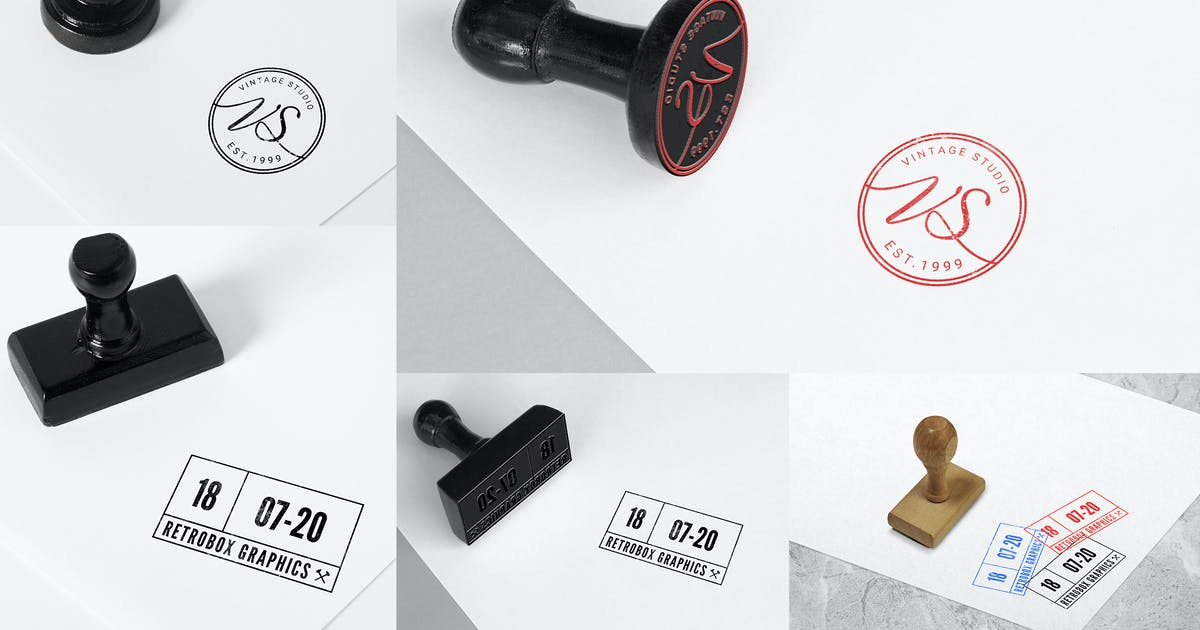 Rubber Stamps Mock Up Vol 01 by RetroBox