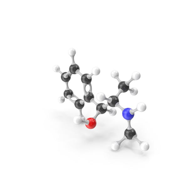 Ephedrine Molecular Model