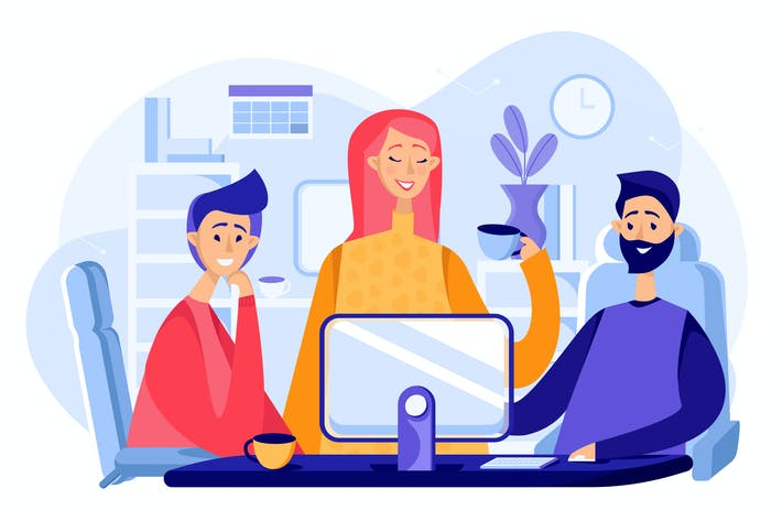 Thumbnail for Office Life Illustration