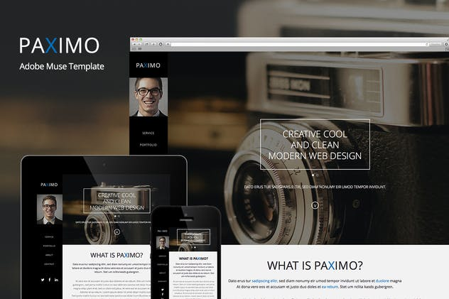Paximo -Parallax Portfolio Muse Template - product preview 3