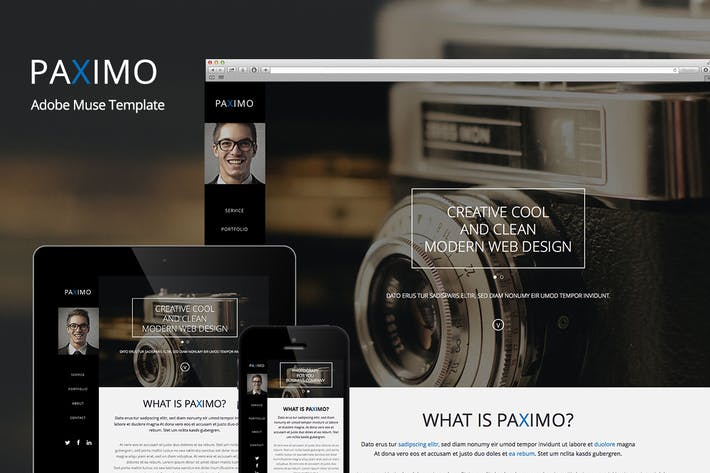 Thumbnail for Paximo -Parallax Portfolio Muse Template