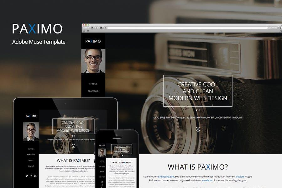 Paximo -Parallax Portfolio Muse Template