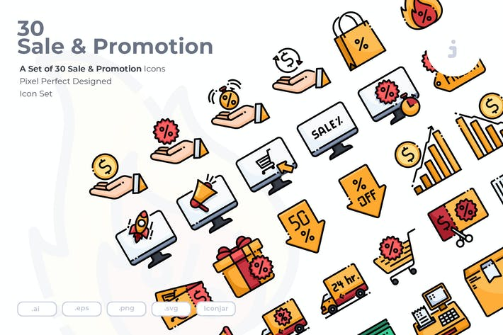 Thumbnail for 30 Sale & Promotion Icons