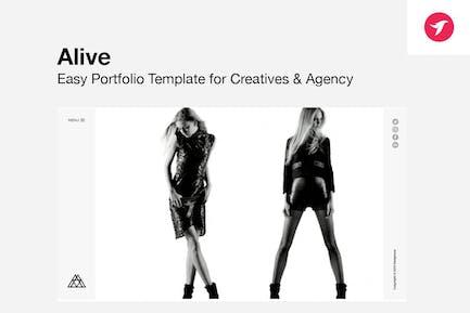 ALIVE - Modèle Réalisations pour Créatifs & Agence