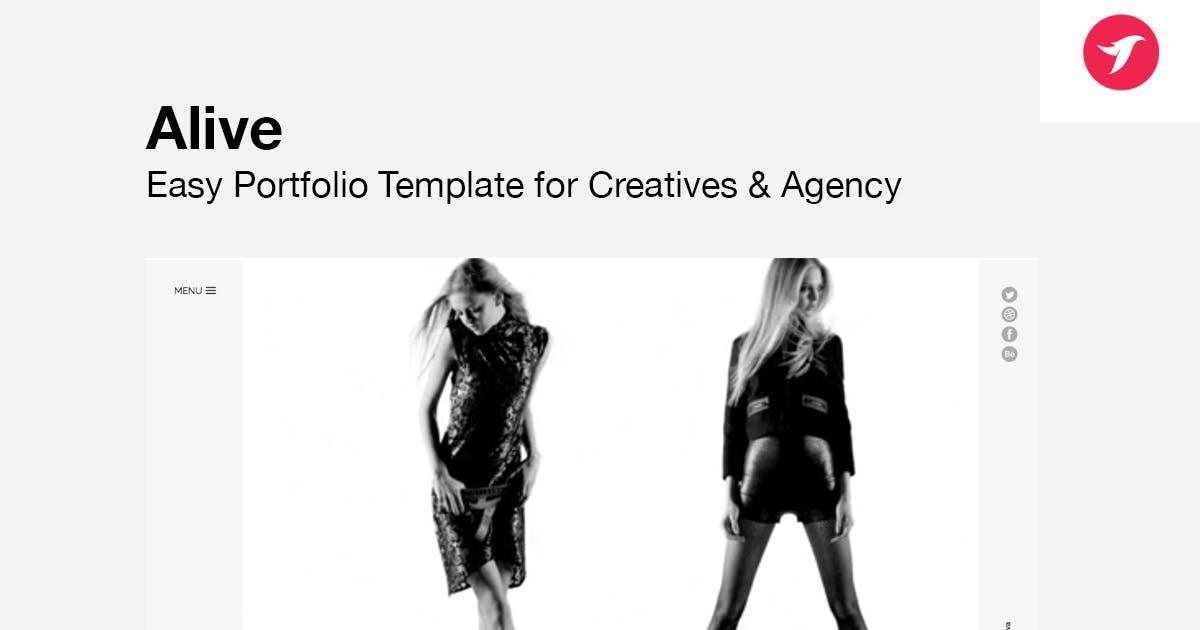 Download ALIVE - Portfolio Template for Creatives & Agency by designova