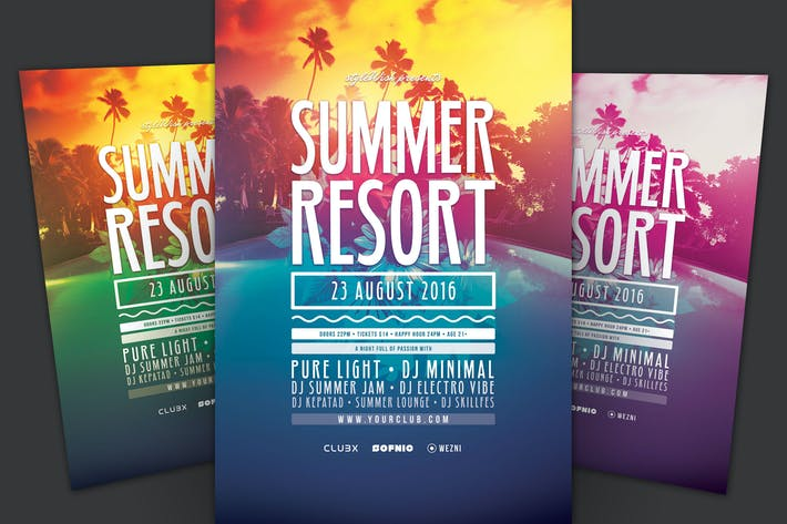 Thumbnail for Summer Resort Flyer