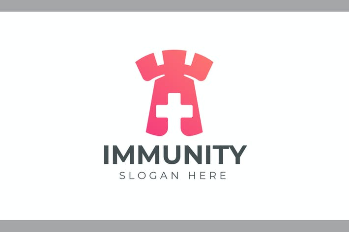Cover Image For Immunity - Health and Medical Logo