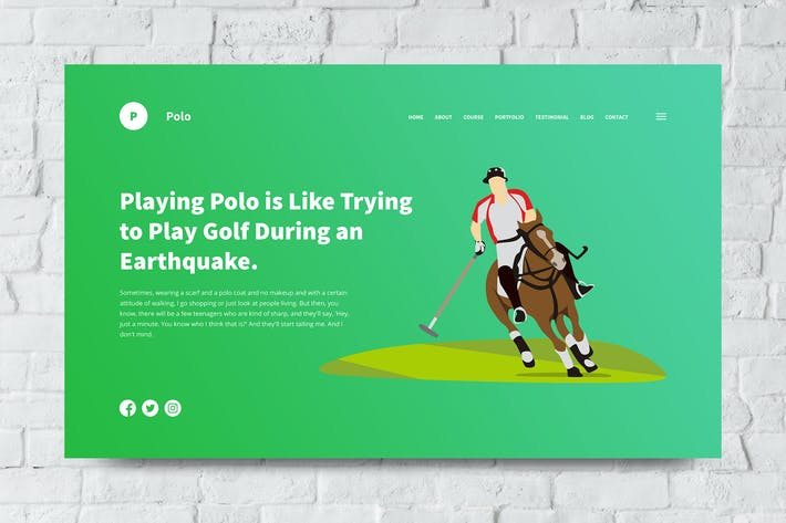 Thumbnail for Polo Web Header PSD and Vector Template