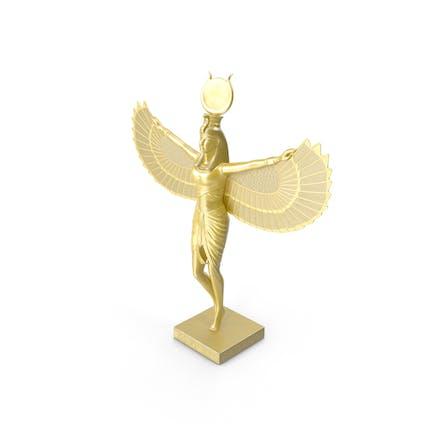 Goldene Statue der Isis altägyptische Göttin