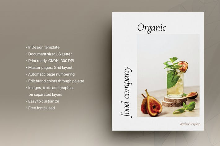 Thumbnail for Organic Food Brochure Template
