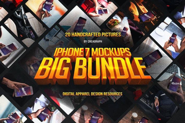 Thumbnail for iPhone 7 Mockups Bundle Vol 1