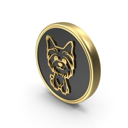 Dog Pet Care Breed Coin Symbol