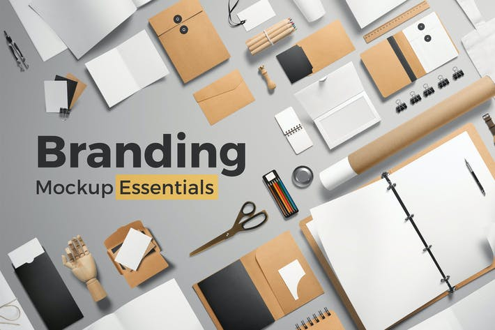Cover Image For Branding Mockup Essentials Vol. 1