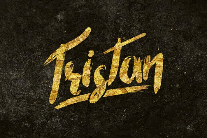 Thumbnail for Tristan Brush Font