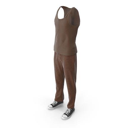 Men's Sport Clothing Brown