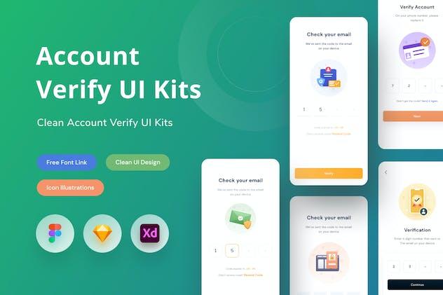 Account Verify UI Kits