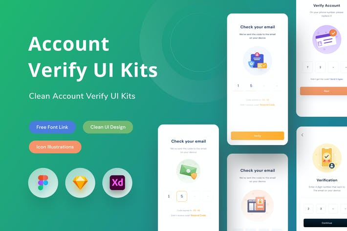 Thumbnail for Account Verify UI Kits