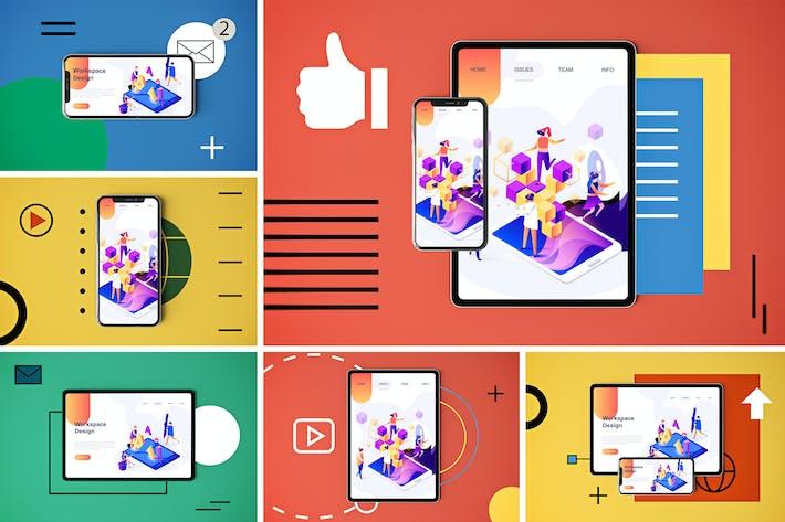 Thumbnail for Social Media App MockUp