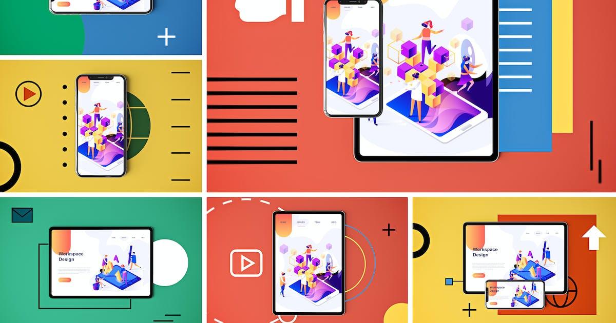 Download Social Media App MockUp by QalebStudio