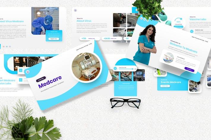 Medcare - Virus Medical Googleslide Template