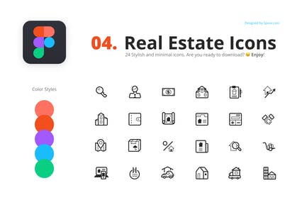 24 Real Estate Icons