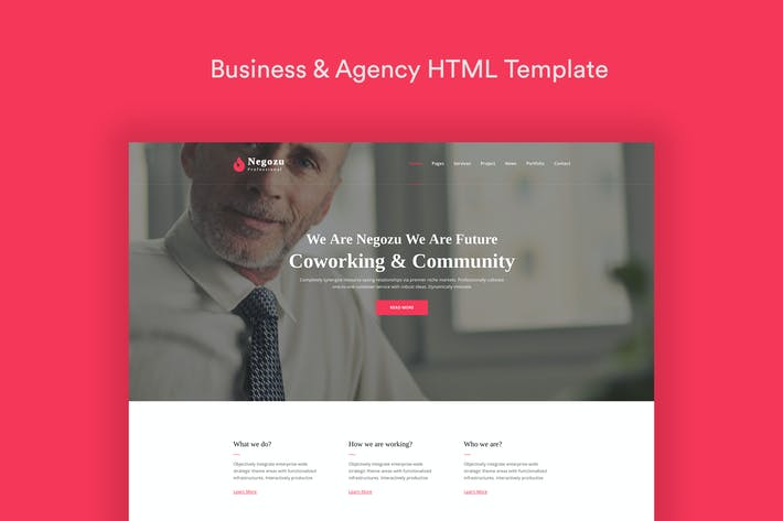Cover Image For Negozu - Business and Consulting Services HTML Tem