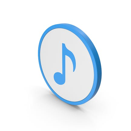 Icon Music Note Blue