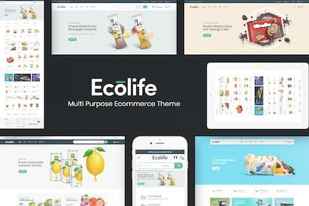 Ecolife - Organic & Food Prestashop Theme