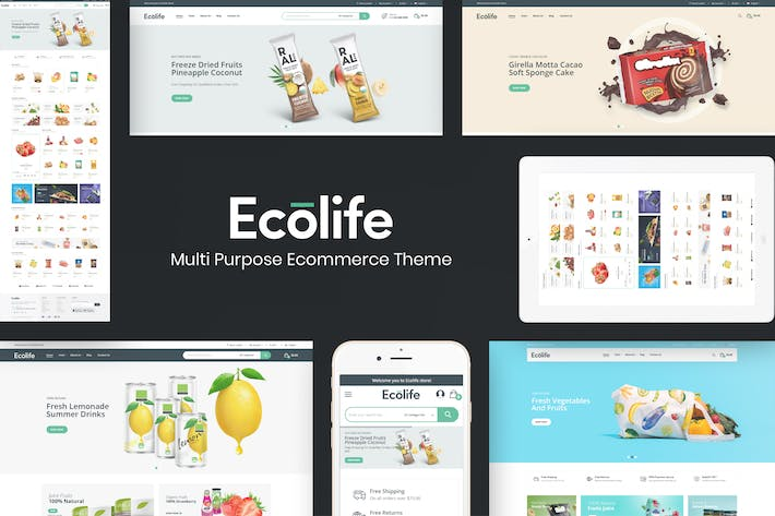 Thumbnail for Ecolife - Organic & Food Prestashop Tema