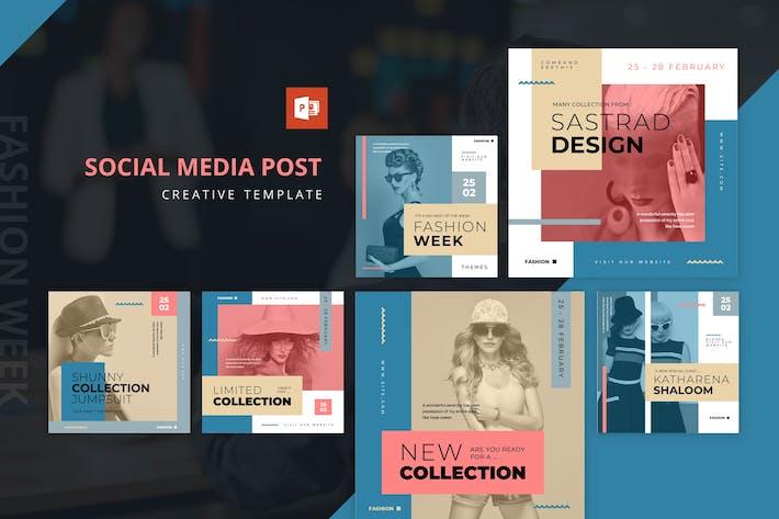 Thumbnail for Мода Неделя Инстаграм Лента Powerpoint Шаблон