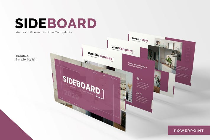 Thumbnail for Sideboard - Powerpoint Template