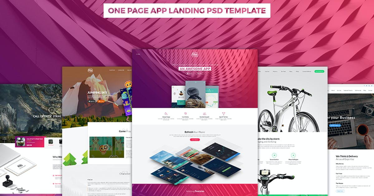 Download Riven - One Page App Landing PSD Template by ArrowHiTech