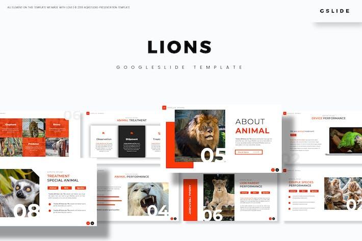 Львы - Шаблон слайдов Google