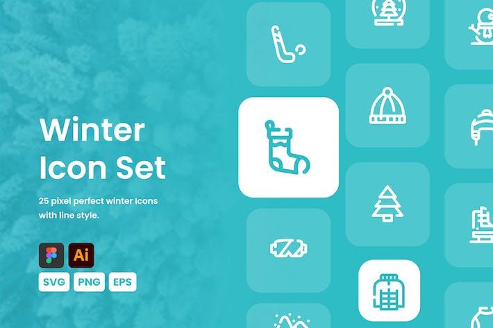 Thumbnail for Winter Icon Set