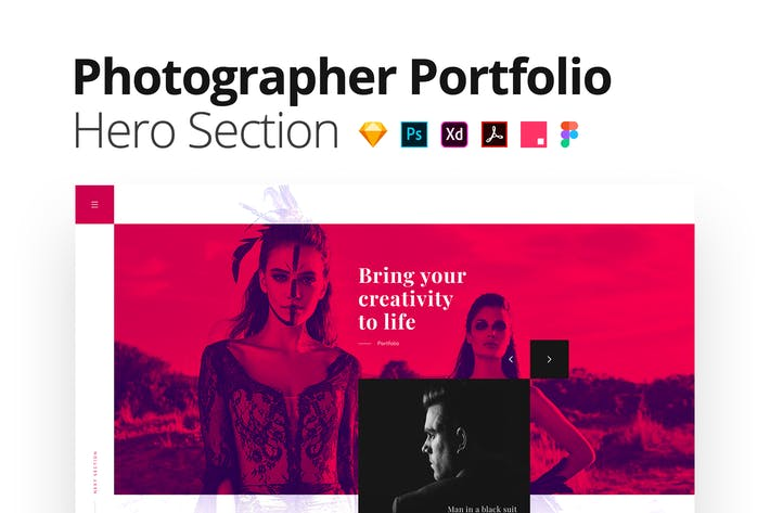 Photographer Portfolio – Multi-format Hero Section
