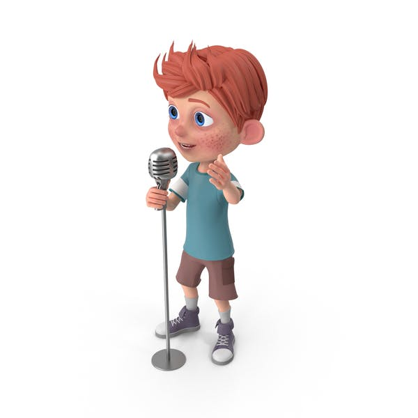 Thumbnail for Cartoon Boy Charlie Singing