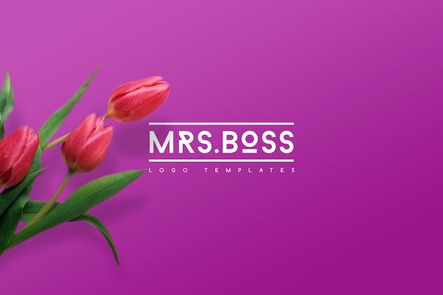 Mrs.Boss Logo Templates