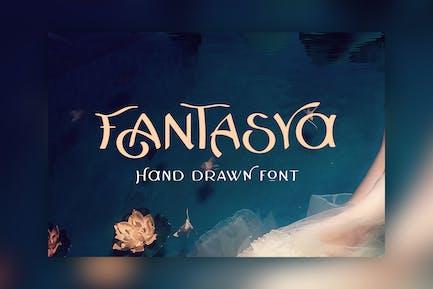 Fantasya - Fuente dibujada a mano