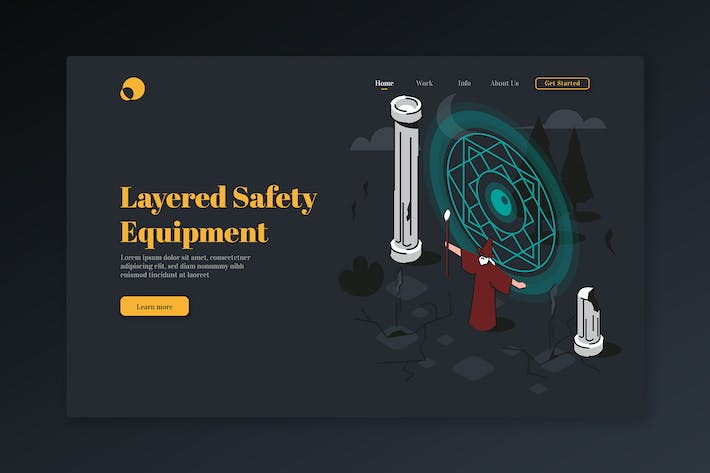 Thumbnail for Layered Safety Equipment - Isometric Landing Page