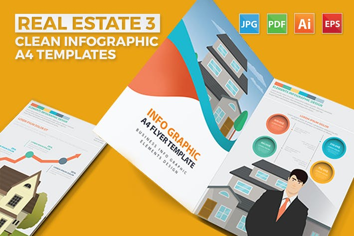 Thumbnail for Real estate 3 infographic Design