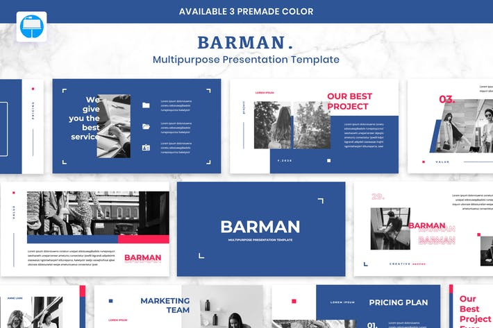 Thumbnail for BARMAN - Multipurpose Presentation Keynote