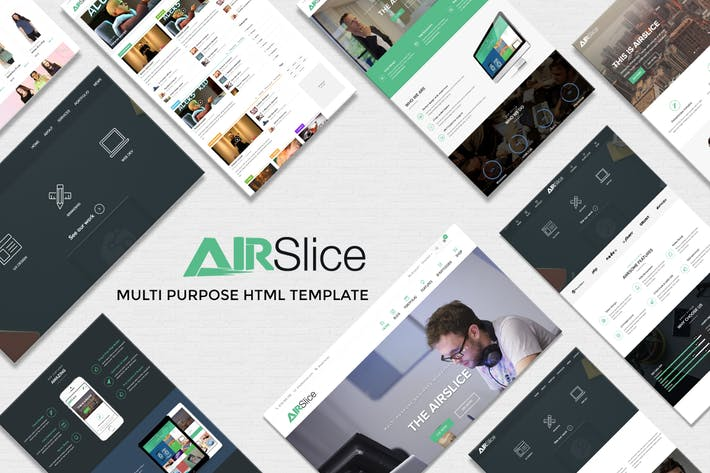 Thumbnail for AirSlice - HTML Creative Responsive Template
