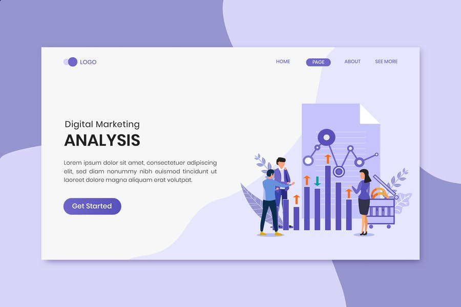 Page de destination Analysis Marketing Numérique