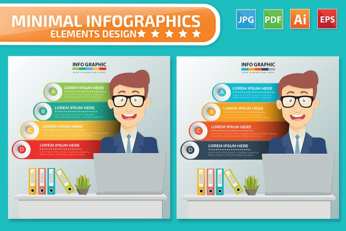 Дизайн Инфографика бизнесмена