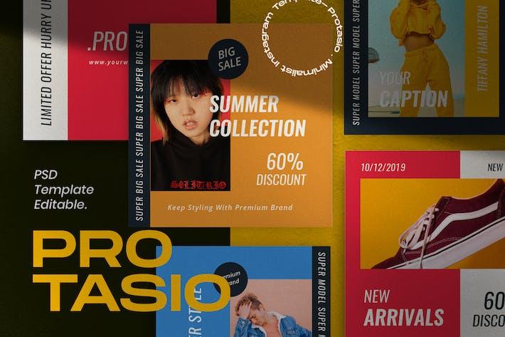 Thumbnail for Protasio Fashion Instagram Social Media Pack 1