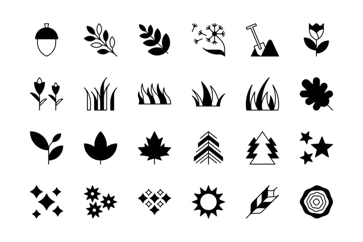Thumbnail for 24 Nature and Outdoors icons
